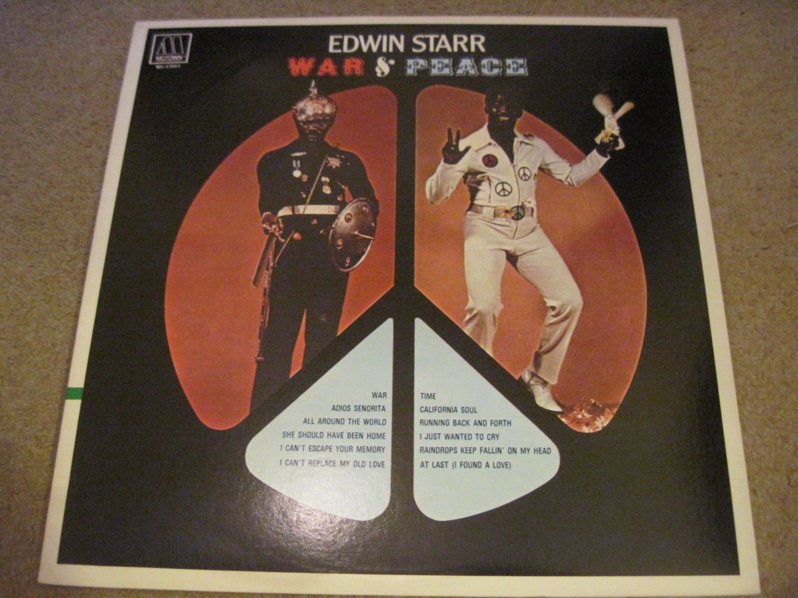 EDWIN STARR War And Peace  1970  MOTOWN     NEAR MINT