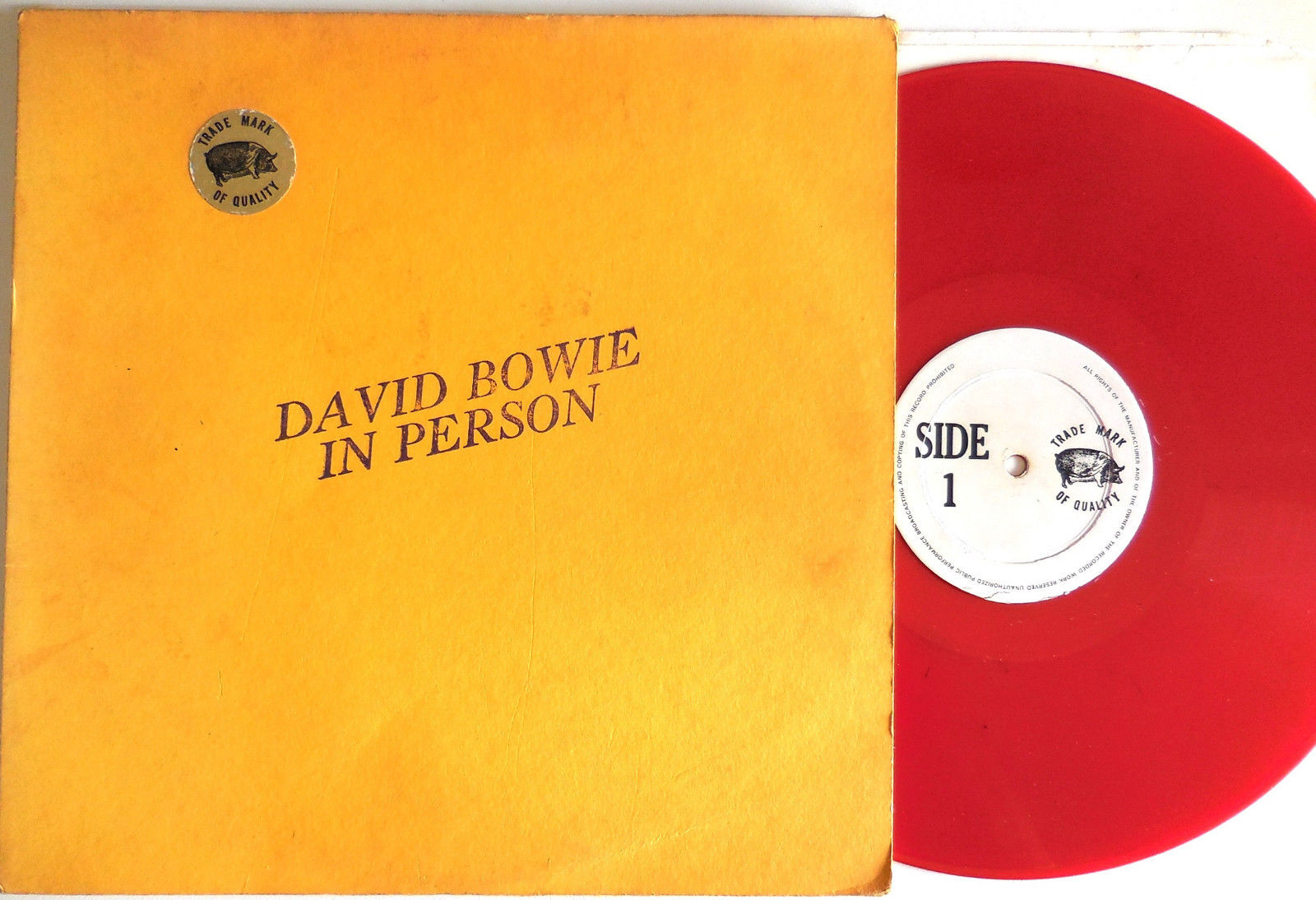 DAVID BOWIE - IN PERSON very rare TMOQ live LP RED VINYL