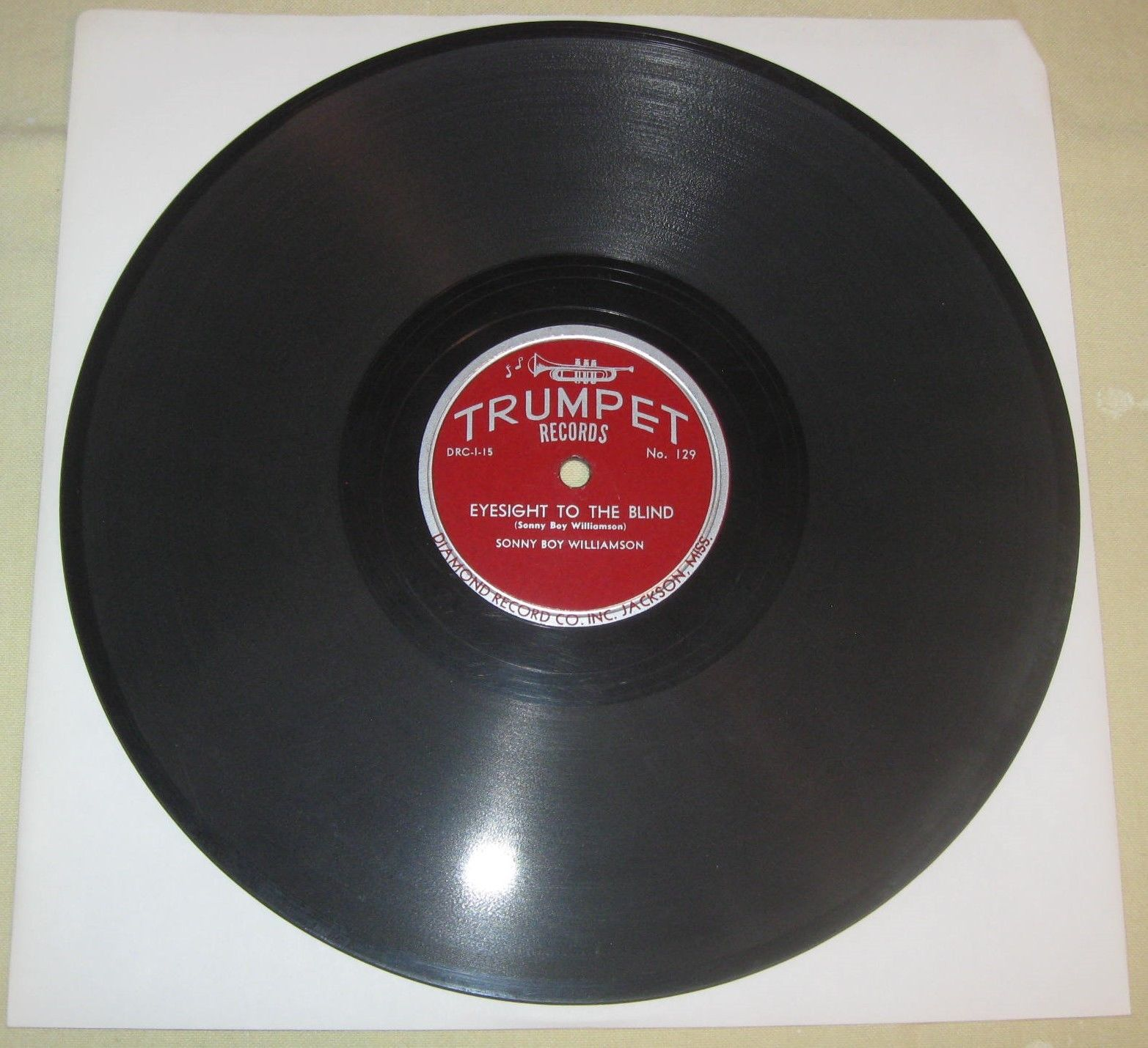 Sonny Boy Williamson #2 - Trumpet 129 - Crazy About You Baby / Eyesight