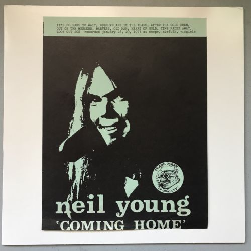 Neil Young - Coming Home, Rare, Limited Edition Vinyl Record LP