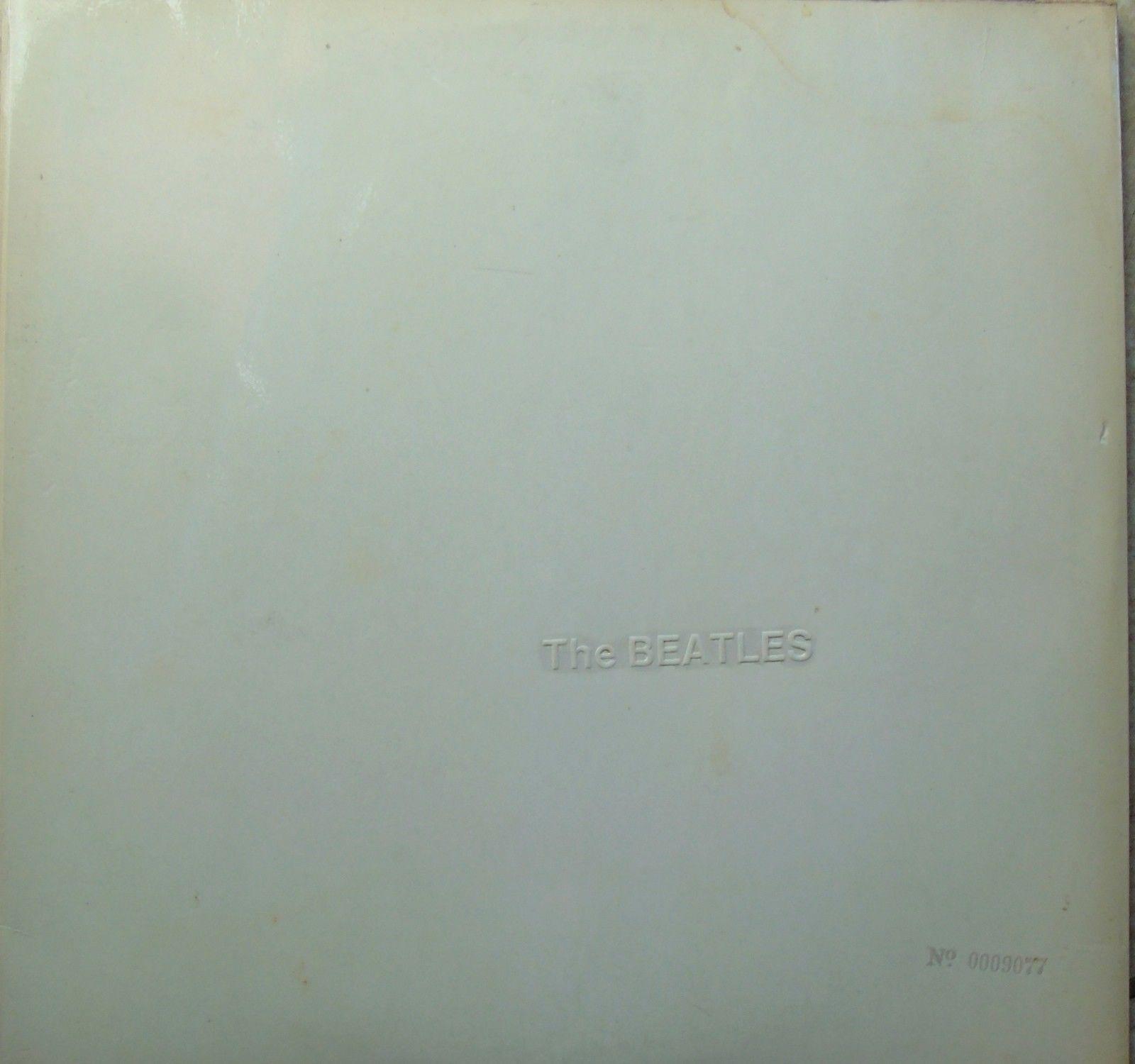 The Beatles White Album. Original UK mono LOW NUMBER 0009077. Cards/poster..EX