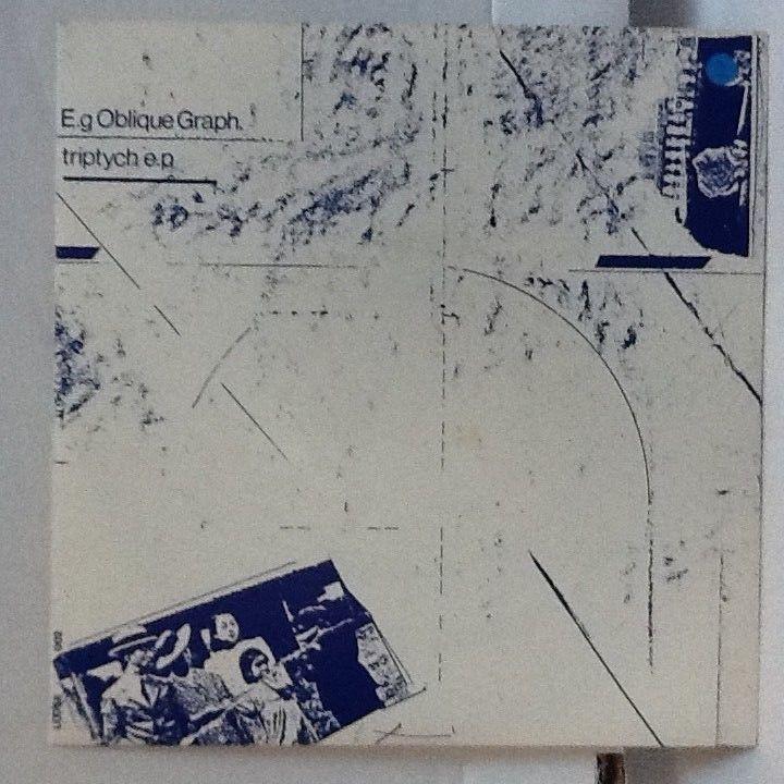 """E.g OBLIQUE GRAPH Triptych EP 1982 Vinyl 7"""" Muslimgauze Industrial Ambient VG"""