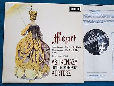 MOZART Piano Conc 8+9 ASHKENAZY KERTESZ SXL 6259 WBand