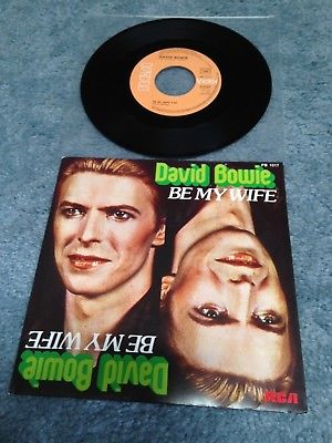 "David Bowie RARE French BE MY WIFE Single 7"" Vinyl 1977 Speed of Life Eno"