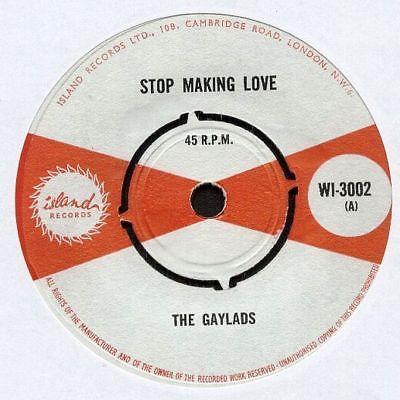 "GAYLADS UK 1966 Reggae 7"" Single Island STOP MAKING LOVE Studio One LISTEN"