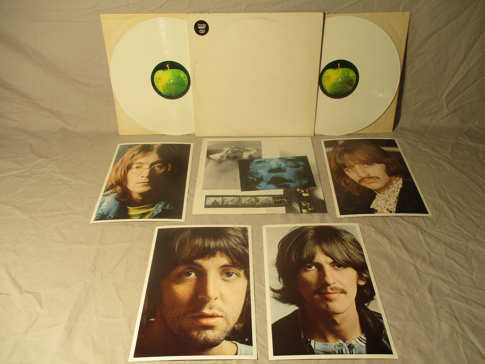 1985 THE BEATLES White Album/White NM Vinyl Germany GEMA DMM Hype Poster/Photos