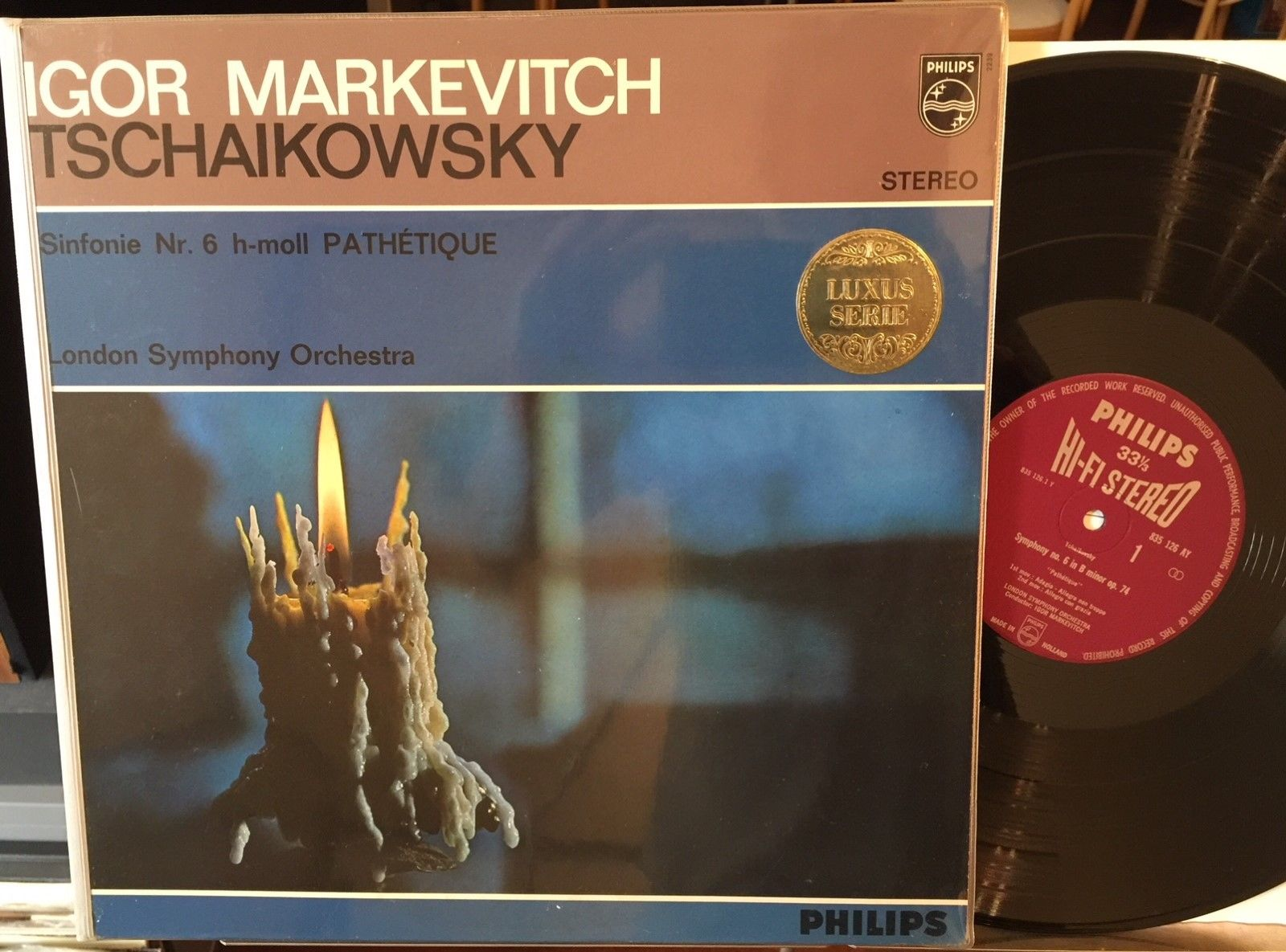 TCHAIKOVSKY PATHETIQUE MARKEVITCH PHILIPS HI-FI STEREO 835126 ED1 HOLLAND NM