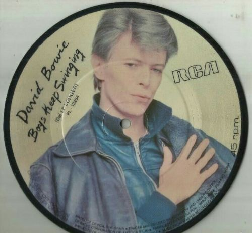 """DAVID BOWIE - BOYS KEEP SWINGING - 7"""" 1979. PICTURE DISC. PROMO. SPANISH EDITION"""