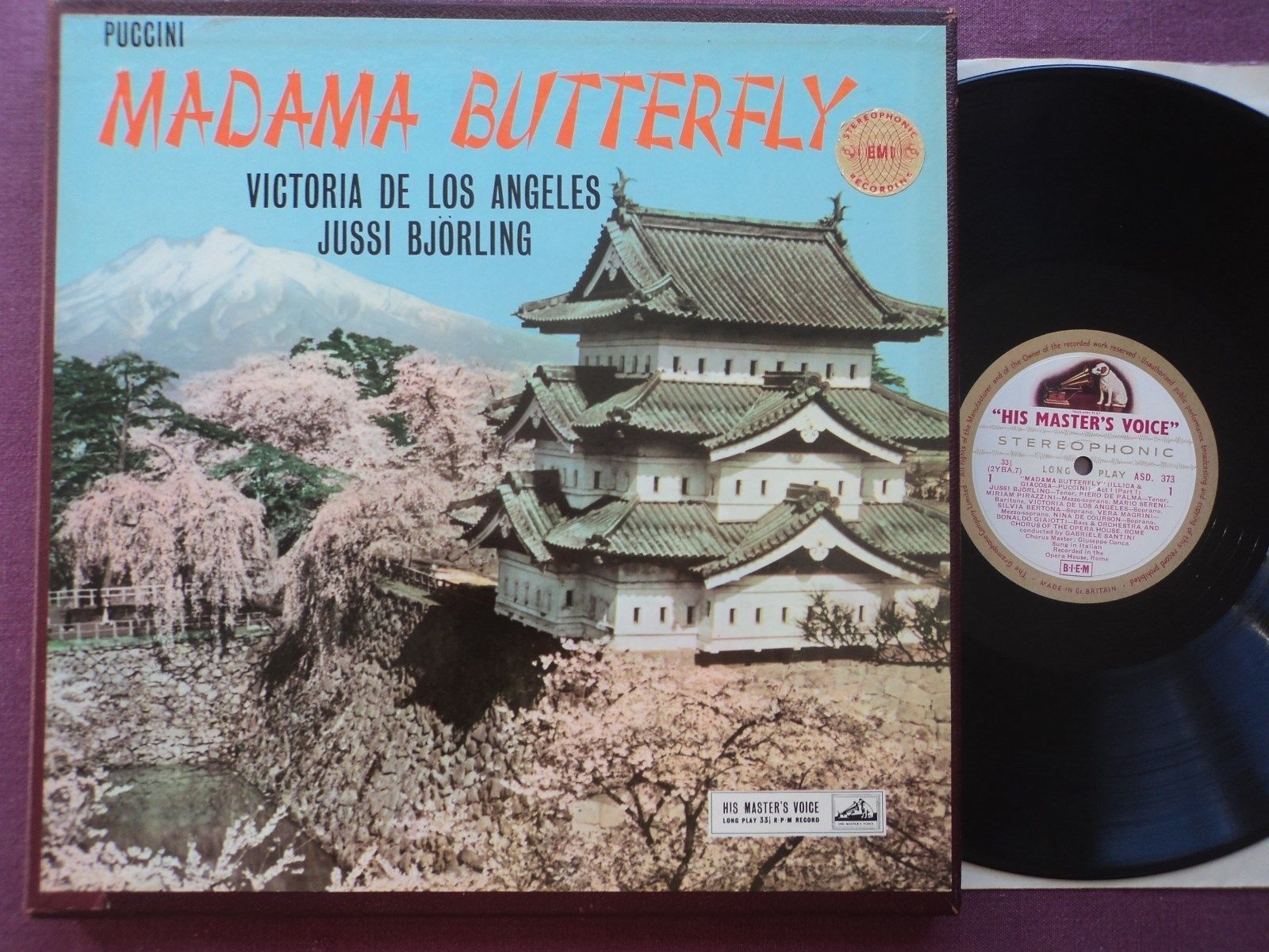 ASD 373-5, g/c UK orig. PUCCINI: Madame Butterfly, DE LOS ANGELES, BJÖRLING, NM