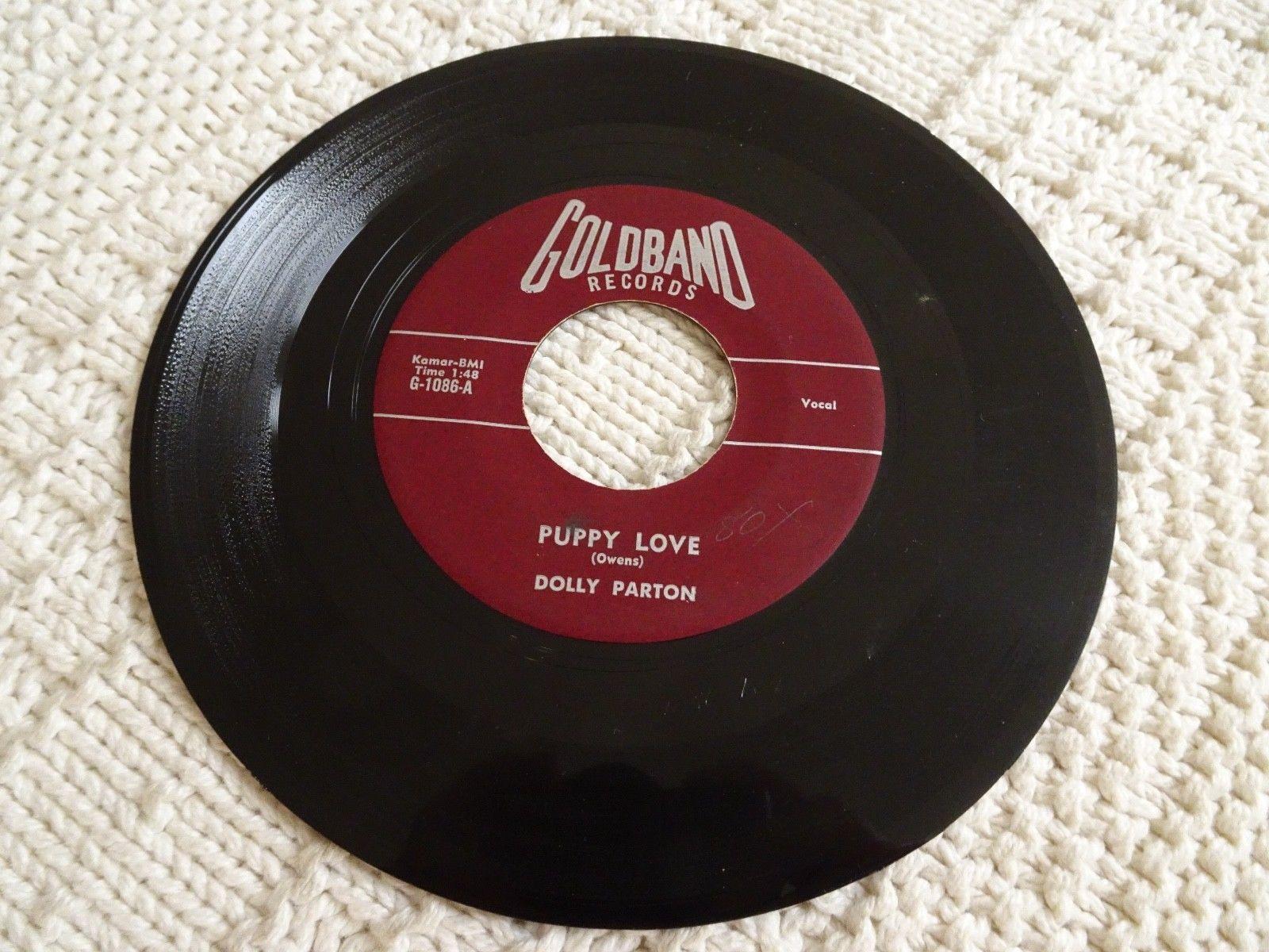 DOLLY PARTON PUPPY LOVE/GIRL LEFT ALONE GOLDBAND 1086 ROCKABILLY 1ST ORIGINAL