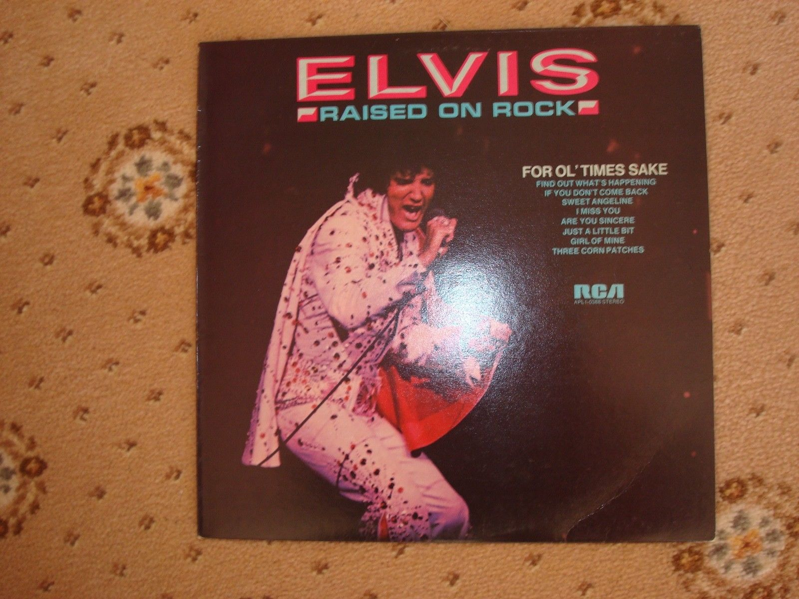 Elvis Presley Raised on Rock LP. English issue rare