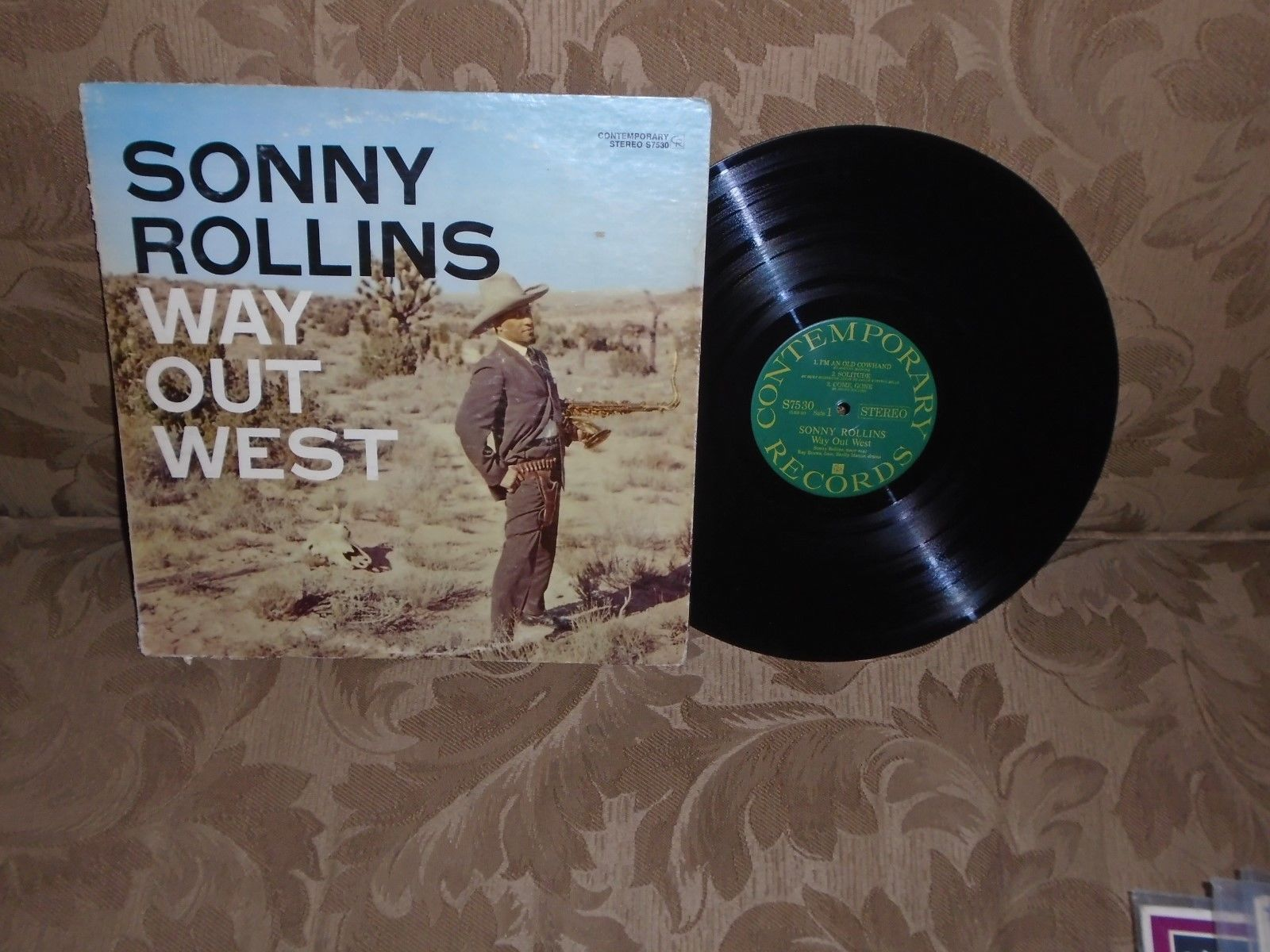 Sonny Rollins Way Out West Contemporary S7530 stereo Ray Brown Shelly Manne