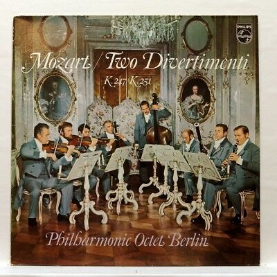 PHILHARMONIC OCTET BERLIN - MOZART 2 divertimenti K.247 & K.251 PHILIPS LP EX++
