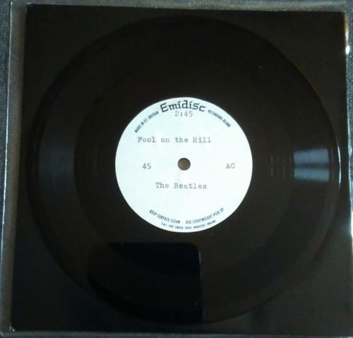 """BEATLES - FOOL ON THE HILL - VERY RARE 7"""" METAL LACQUERED ONE SIDED ACETATE"""