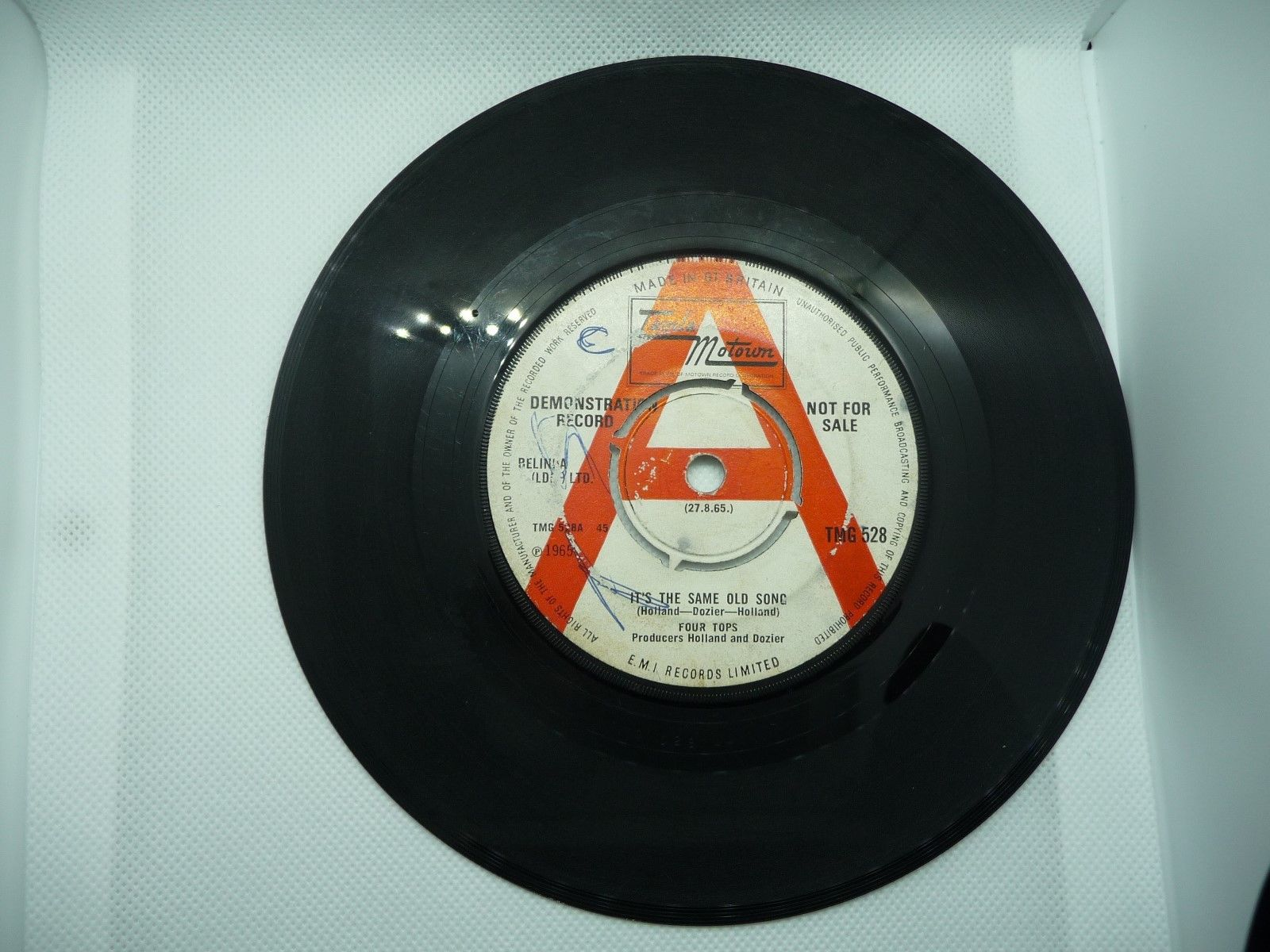 *RARE DEMO* THE FOUR TOPS IT'S THE SAME OLD SONG/YOUR LOVE IS AMAZING UK 7'' 45