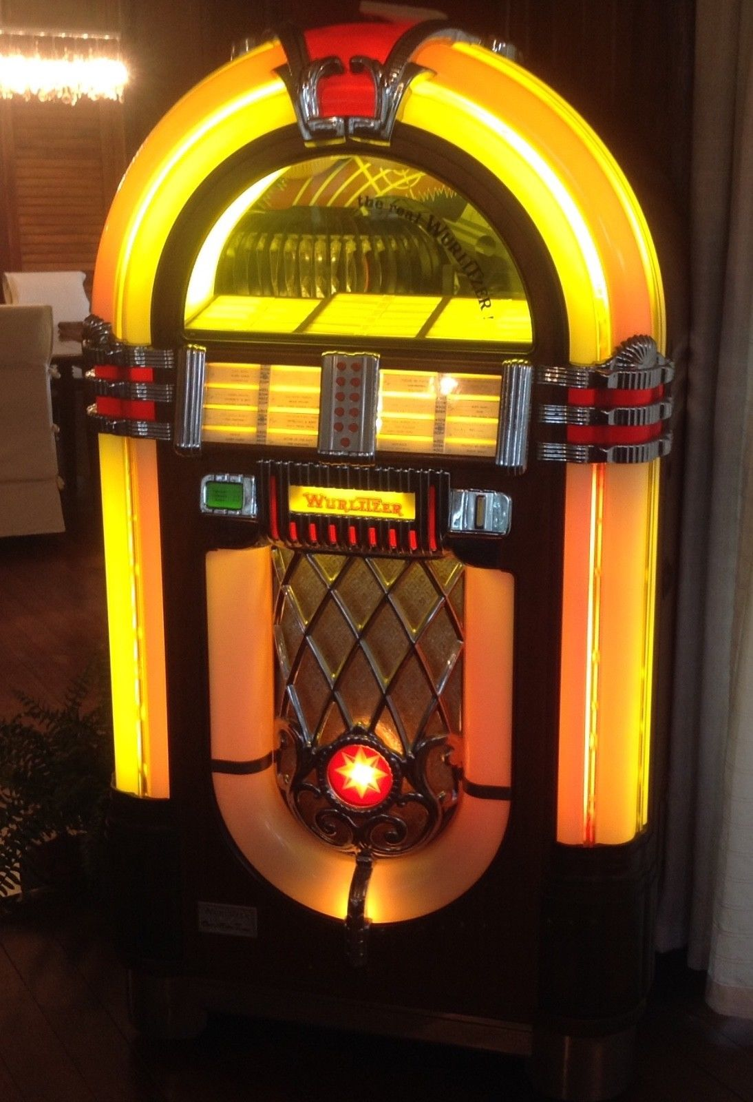 jukebox Wurlitzer OMT 45 tours vinyls Bubble