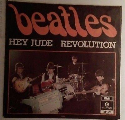 """THE BEATLES """"HEY JUDE"""" 7"""" PS DENMARK 1968 ORIG. DP 570"""