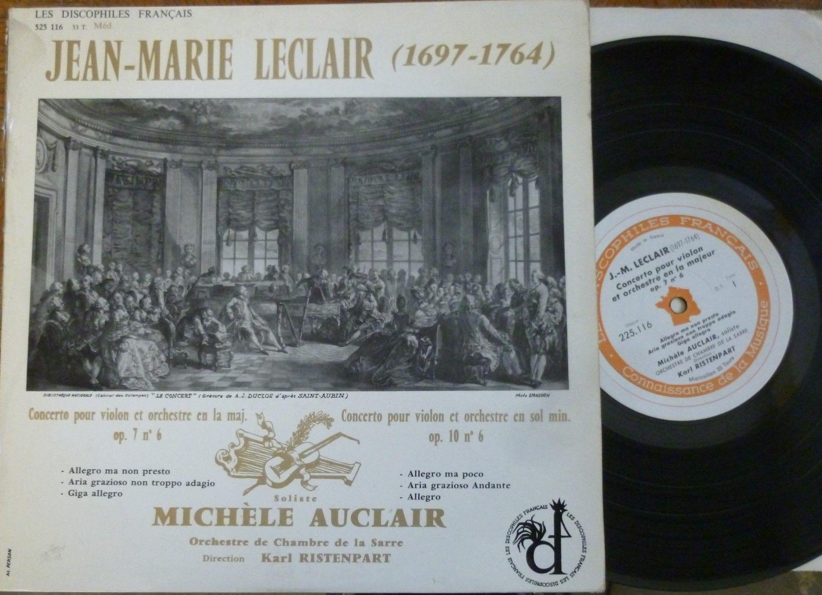 MICHELE AUCLAIR - RISTENPART / LECLAIR / LES DISCOPHILES FRANCAIS