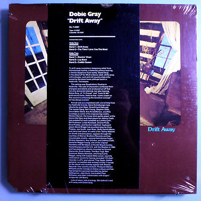 DOBIE GRAY DRIFT AWAY RARE SEALED ORIG '73 DECCA PROMO LP w/PROMO-ONLY INSERT