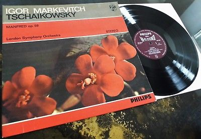 Tchaikovsky: Manfred - Markevitch / LSO **Philips Hi-Fi Stereo SAL 3491 ED1 LP**