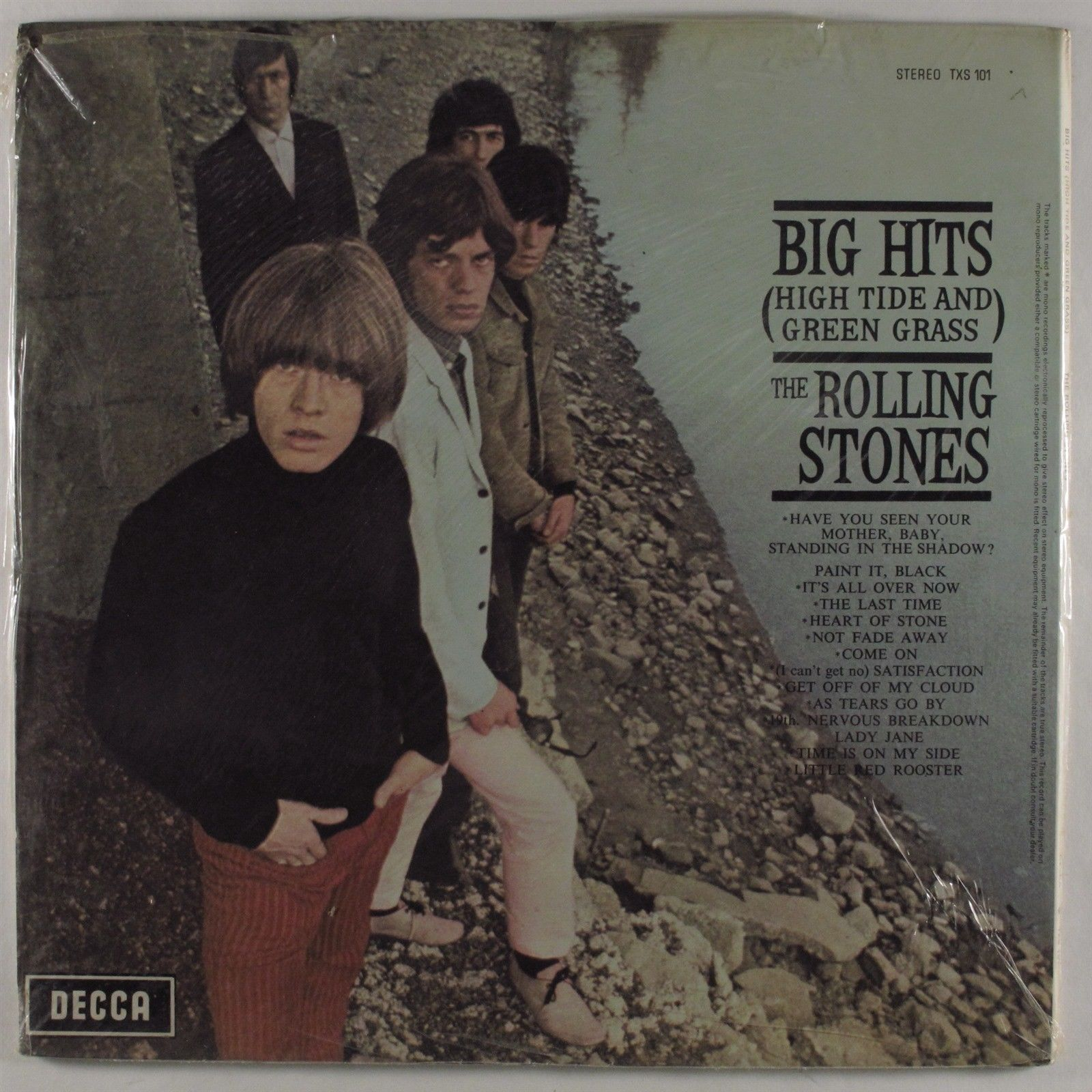 ROLLING STONES Big Hits (High Tide And Green Grass) DECCA TXS 101 LP SEALED uk