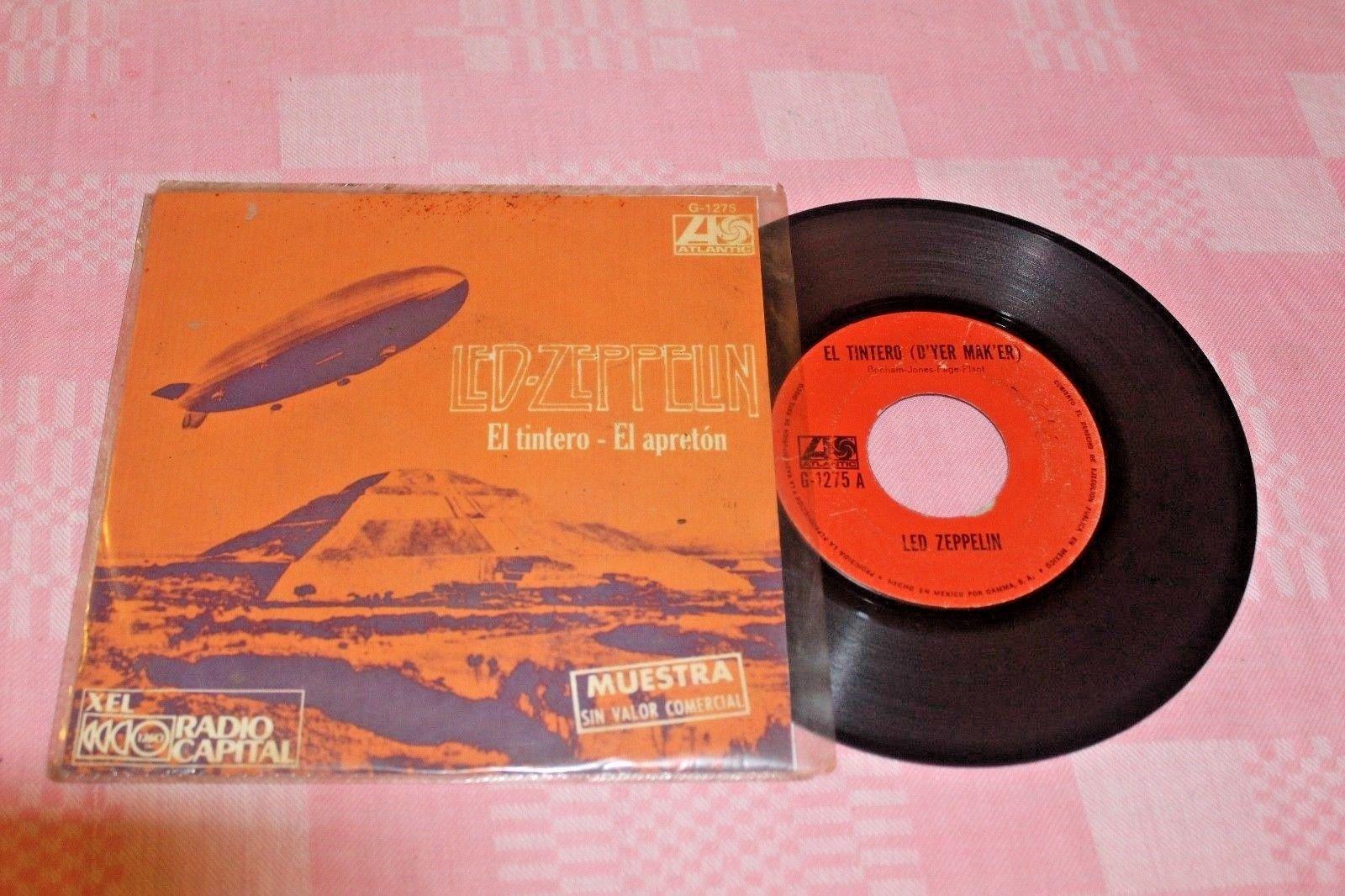 """LED ZEPPELIN D'yer Mak'er 1973 MEXICO 7"""" RADIO PROMO 45 Hard Rock"""