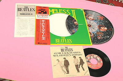 BEATLES LP PICTURE DISC TIMELESS II JAPAN NM OBI INSERT AND 7""