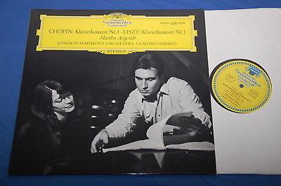 Argerich Abbado Chopin Liszt Concertos Nos1 DGG Big Tulip Stereo SLPM 139 383 NM