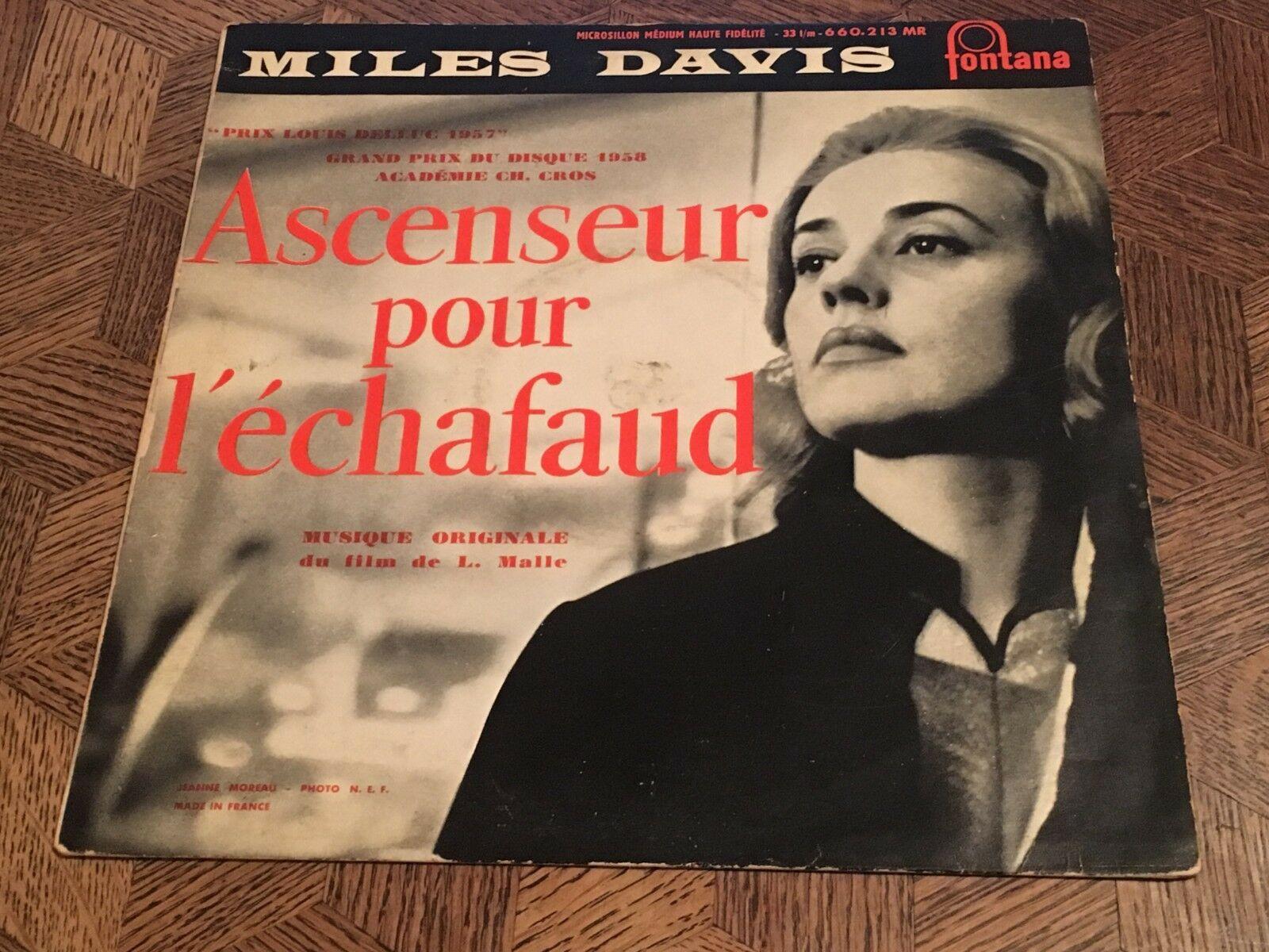 """MILES DAVIS - Ascenseur pour l'echafaud   FONTANA 10"""" 660.213 w/Michelot - RARE"""