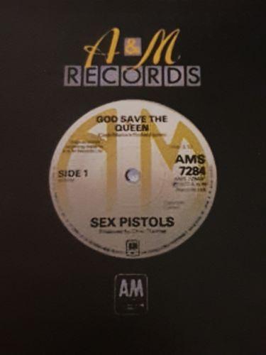 A&M   Sex Pistols 1977 original  single  God Save The Queen