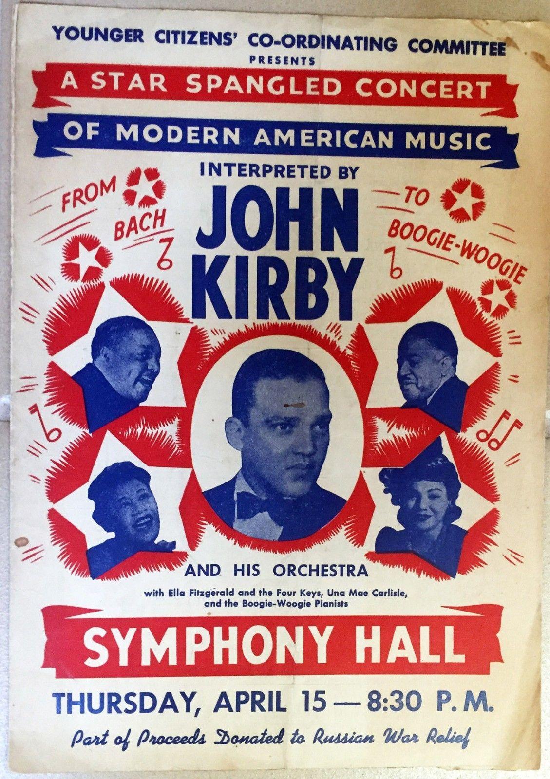 78 RPM - John Kirby - Ella Fitzgerald (& more) Concert Program April 1943 Boston
