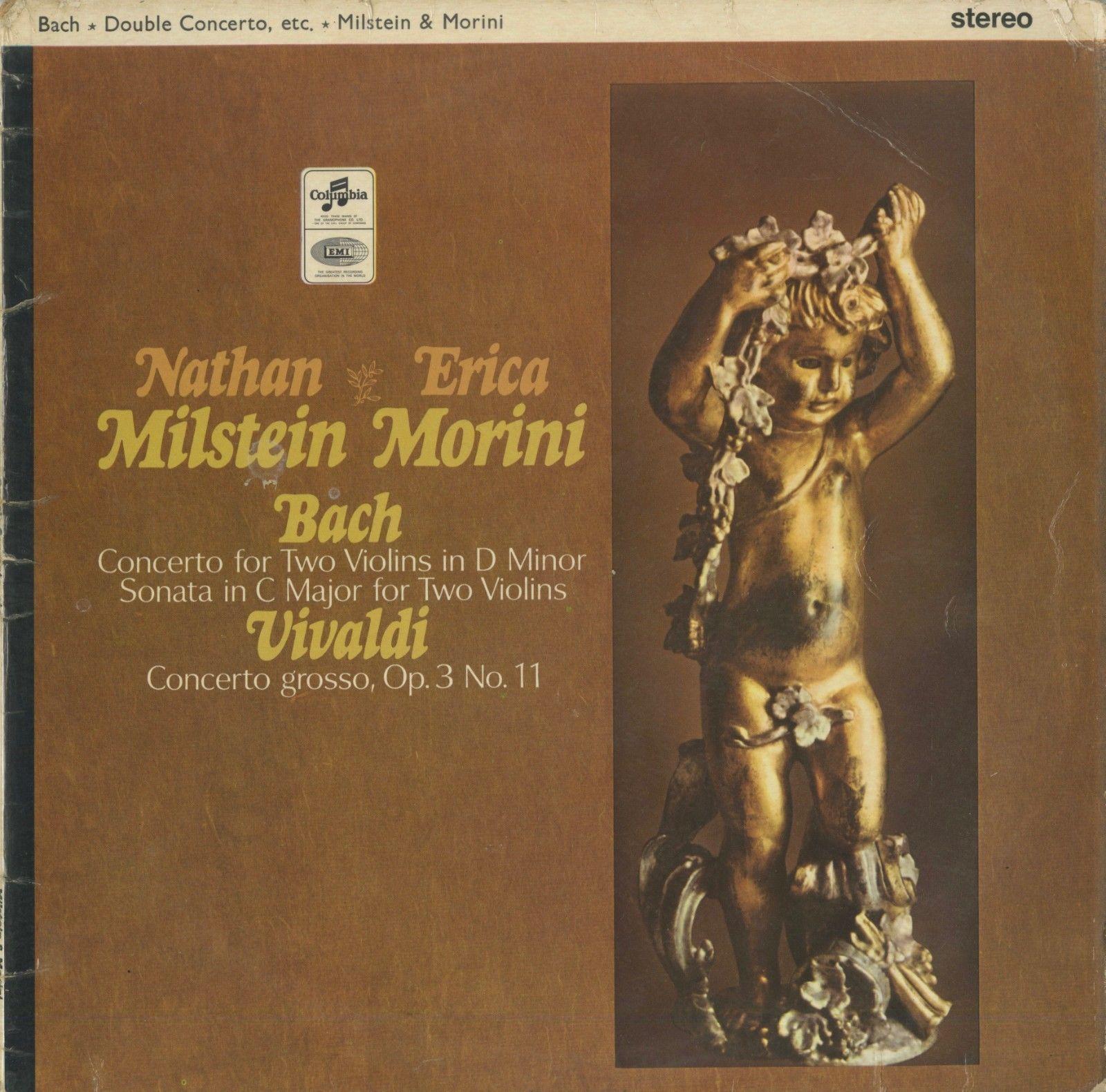 Bach:2 Violins Concerto,Sonata,Vivaldi/N.Milstein,E.Morini(vn)/SAX 2579(UK ED1)