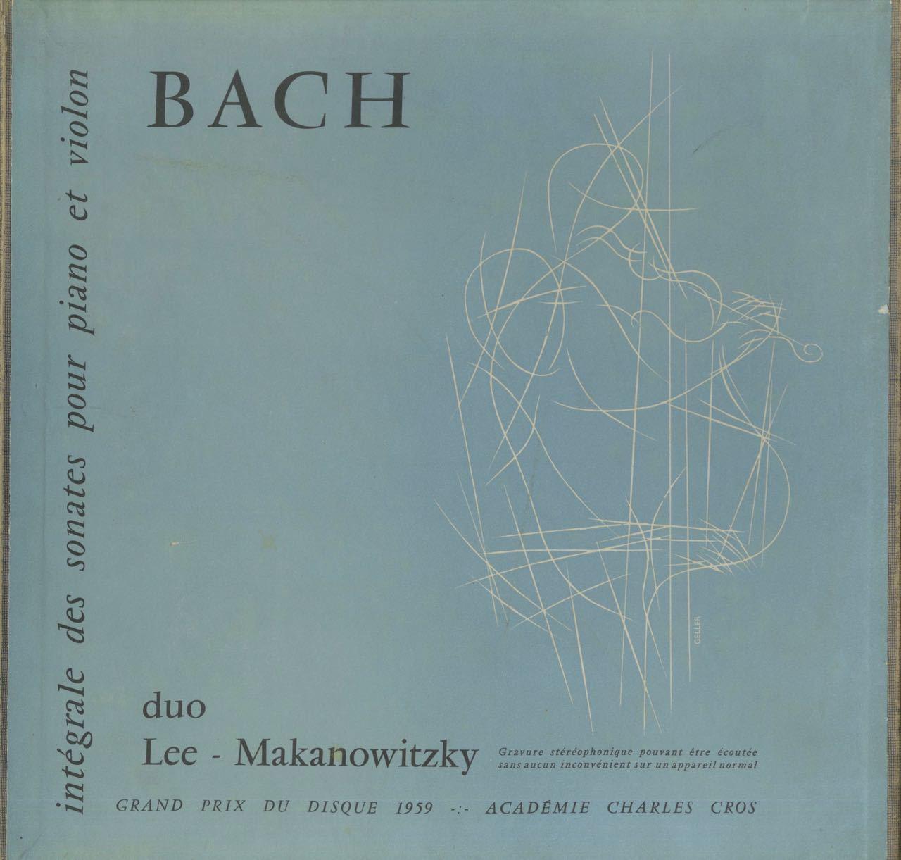 Bach:6 Violin Sonatas/P.Makanowitzky(vn)N.Lee(piano) LUMEN:LD 3437-8