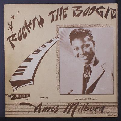 "AMOS MILBURN: Rockin The Boogie LP (10"", beautiful copy ) rare Blues & R&B"