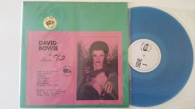 "DAVID BOWIE ""In Person"" NM blue vinyl TMOQ orig bootleg LP 1972 SantaMonica LIVE"