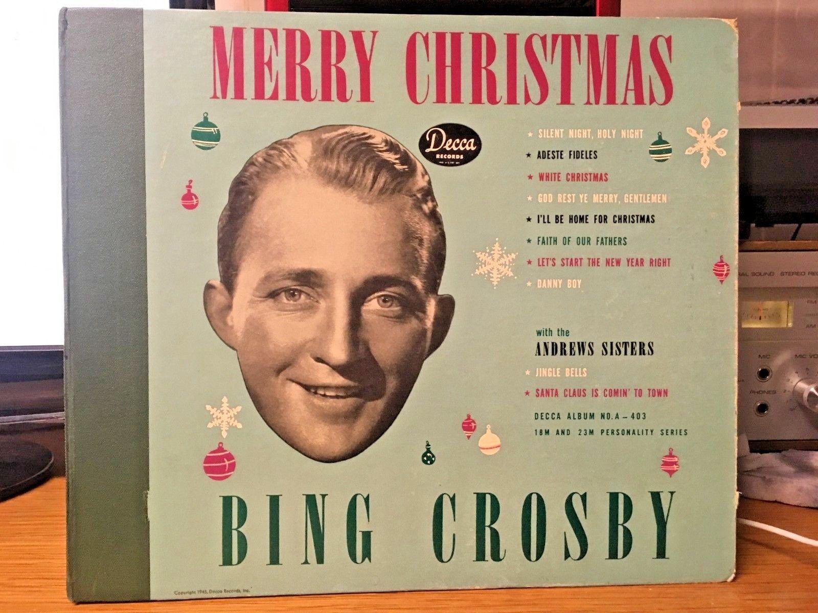 Bing Crosby Merry Christmas.Popsike Com 78 Rpm Christmas Set Bing Crosby Merry