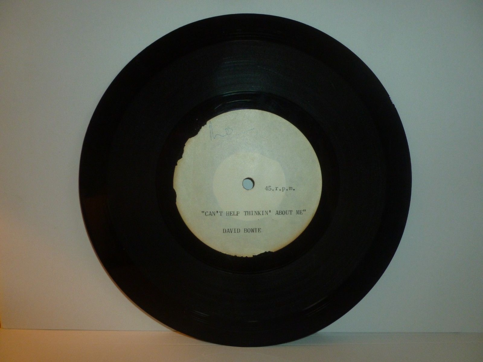 "RARE-DAVID BOWIE 8"" ACETATE-DAVID BOWIE -""CAN'T HELP THINKIN' ABOUT ME"" 1965/66"