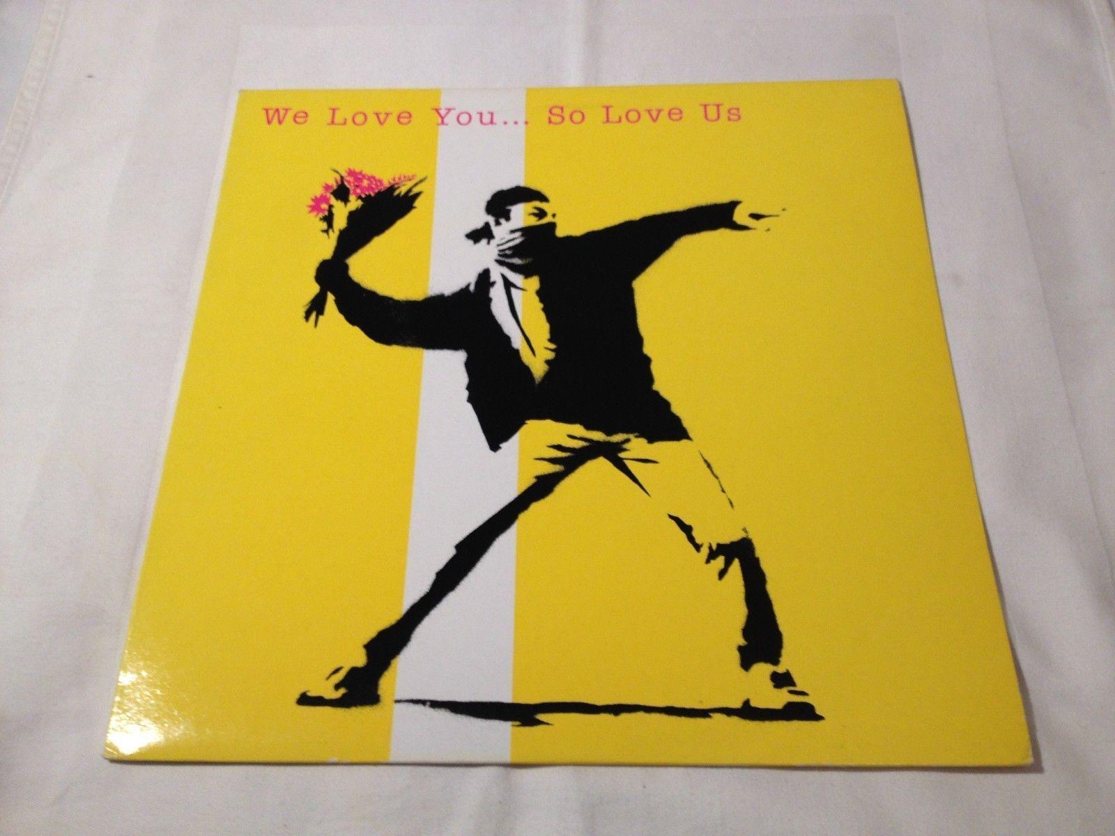 we love you...so love us  LP  barricato  lp vinyl record banksy no wtc palestine