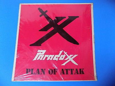 '85 Ultra Selten 30.5cm LP Plan Attak Paradoxx Chicago Metalleinsatz Silber