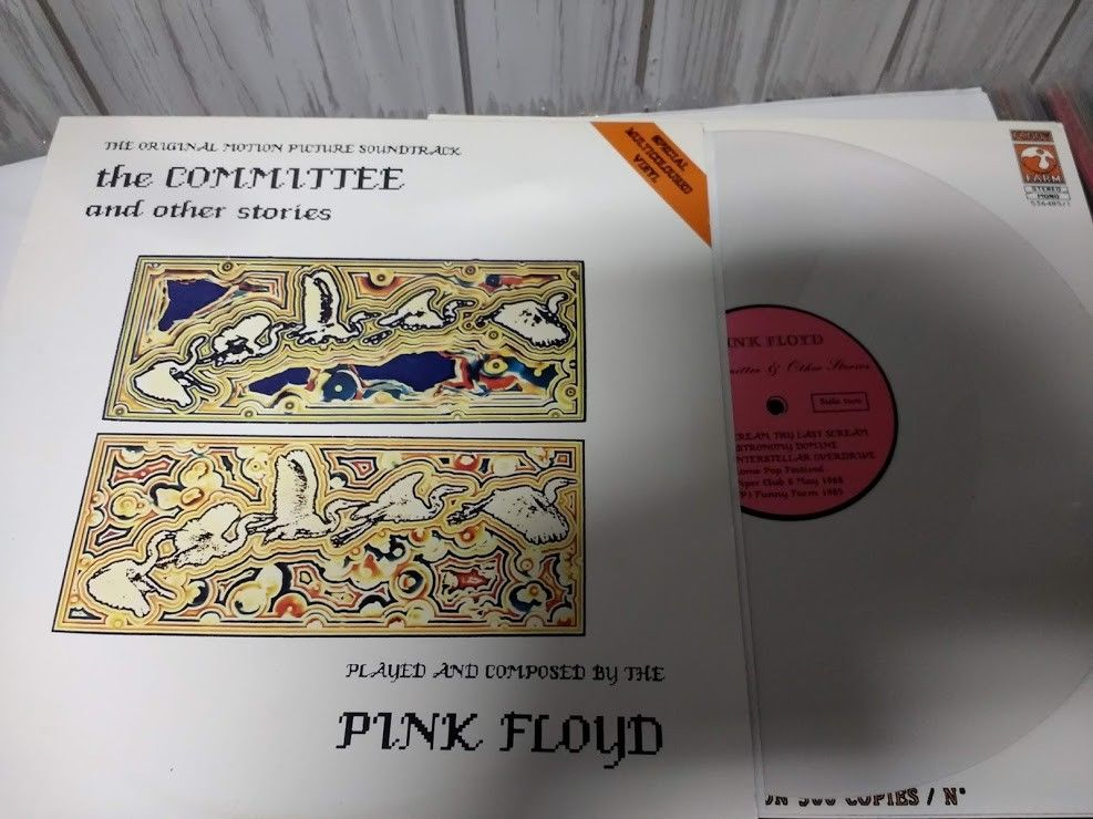 PINK FLOYD   THE COMMITTEE   RARE LP  TMOQ TAKRL    WHITE VINYL LQQK