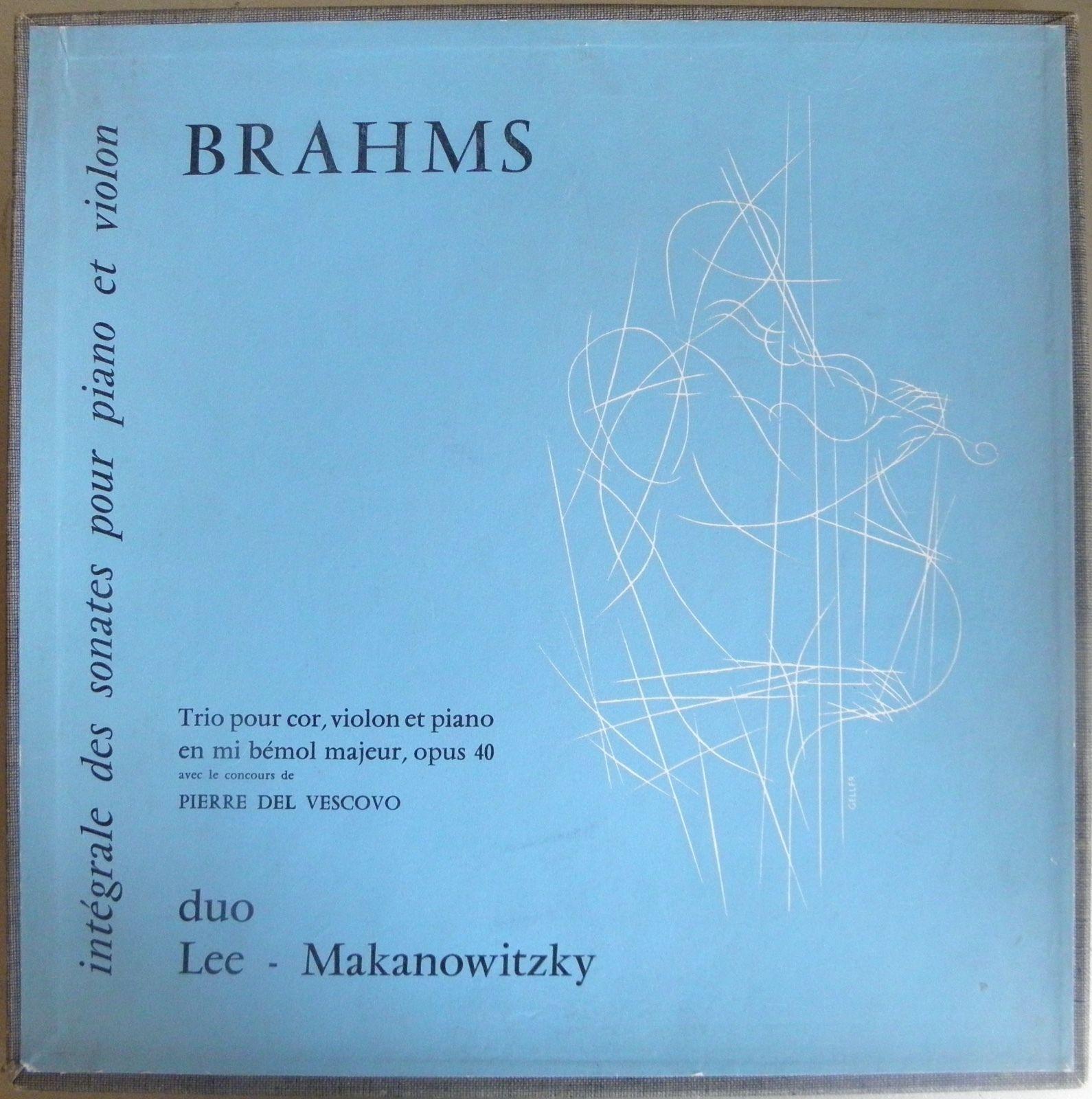 Makanowitzky / Lee / Brahms sonatas - Lumen -  LAST AUCTION