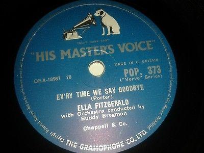 ELLA FITZGERALD : EV'RY TIME WE SAY GOODBYE  /  MANHATTAN.  UK.78 rpm (1957)