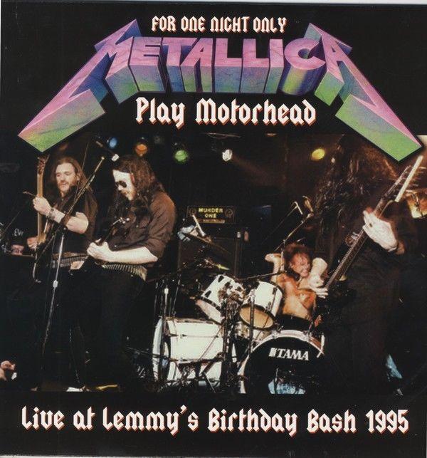 METALLICA - LIVE AT LEMMY'S BIRTHDAY BASH 1995 - LP - METALLICA PLAY MOTORHEAD