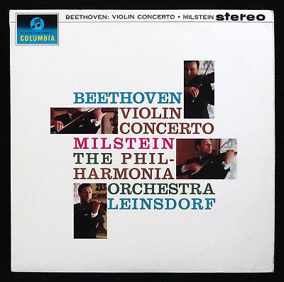 SAX 2508 Nathan Milstein - Beethoven Violin Concerto - Leinsdorf UK 1962 1st Pr.