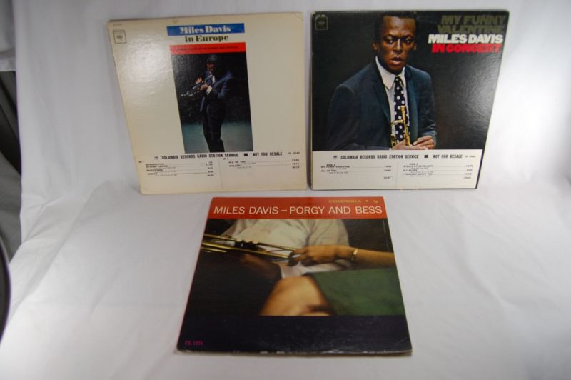 MILES DAVIS 3 LP MONO Promo SET VG++ Orig. In Europe, In Concert, Porgy Bess