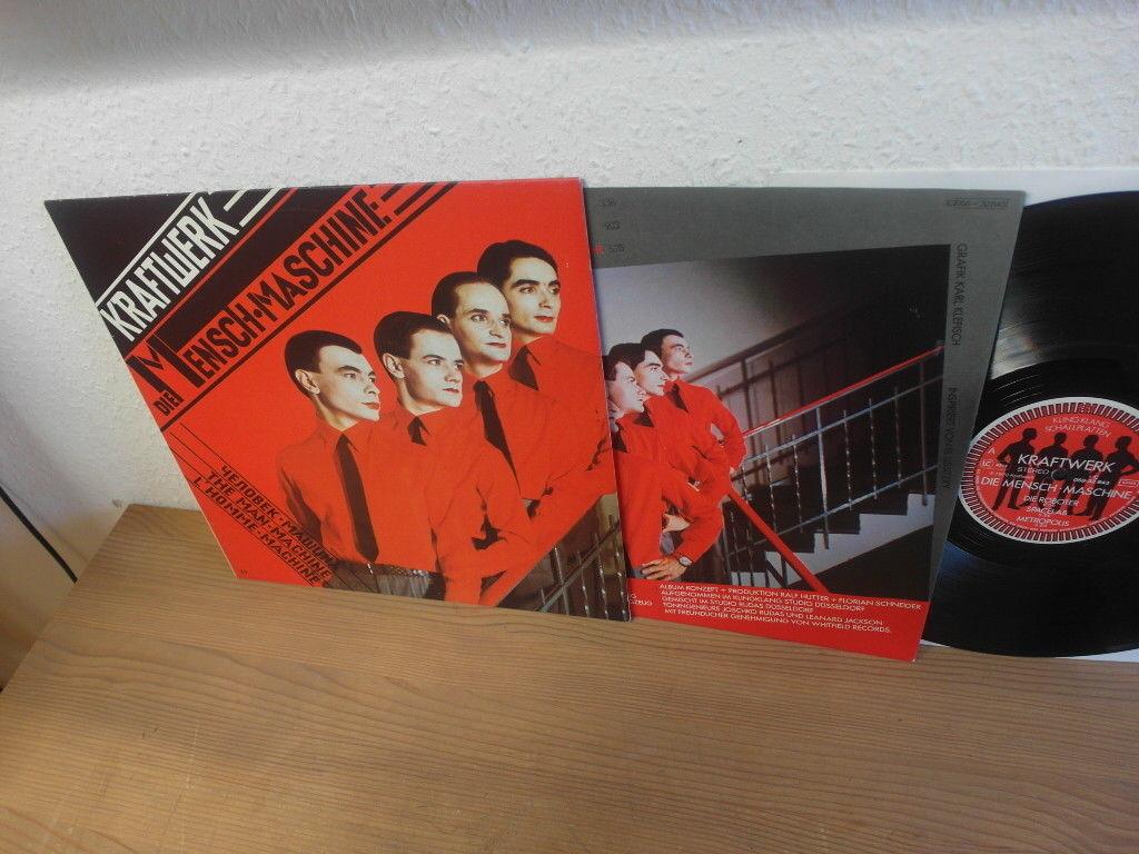 Kraftwerk Die Mensch Maschine LP Hippie Space Krautrock Vinyl Scare