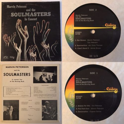 Marvin Peterson and Soulmasters in concert Lp Century Rare Soul Funk OG *EX