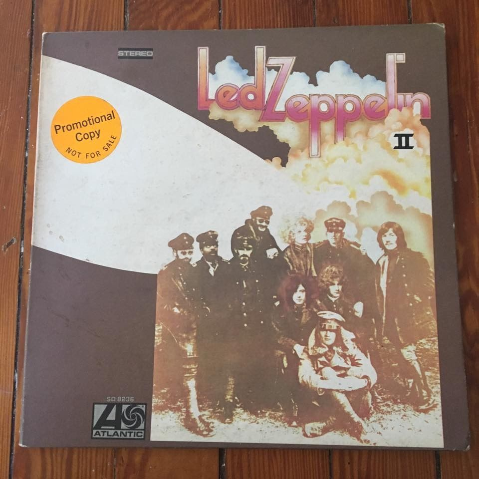 Led Zeppelin II white label promo, Former Atlantic rec sales copy,  No Reserve.