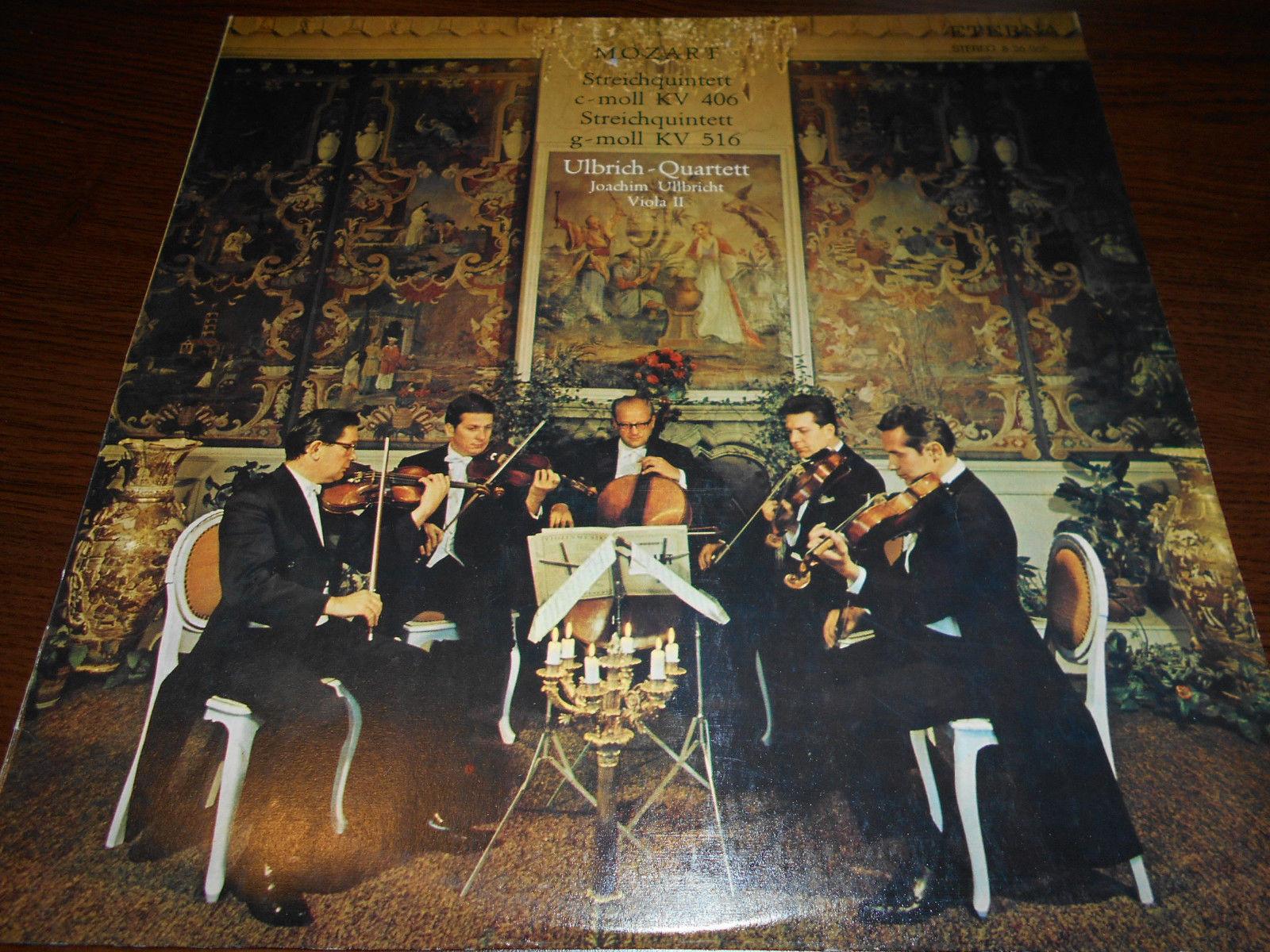 Ulbrich-Quartett - MOZART - Streichquintette c-moll g-moll LP 826068 ETERNA NM