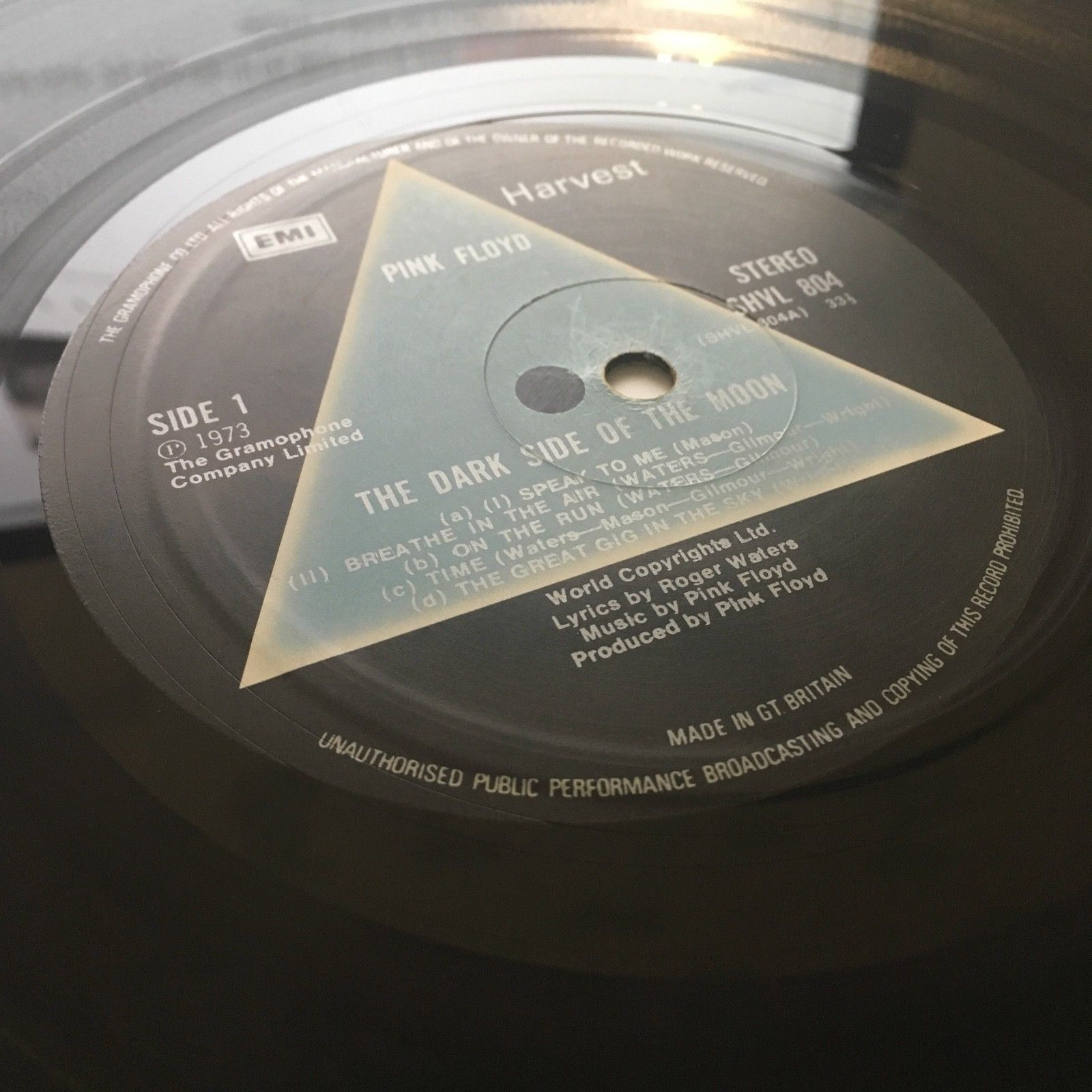 Pink Floyd - The Dark Side Of The Moon 1st UK press MINT- shrink  TOP